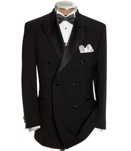 Black Double Breasted Tuxedo Jacket + Pants