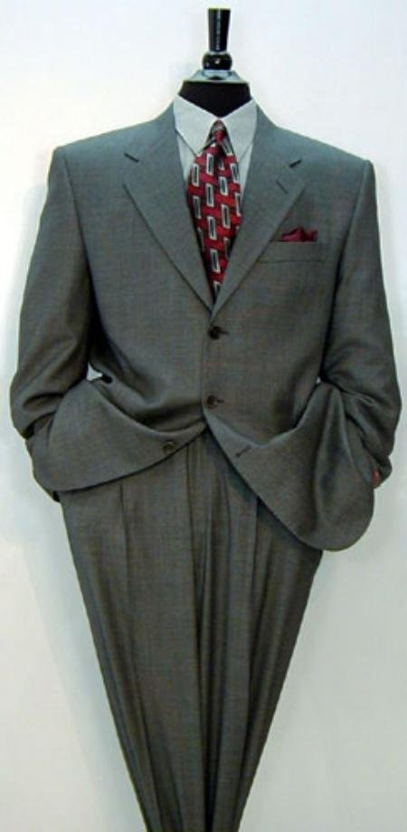 Luxrious High End premeier quality italian fabric Design Men's Umo 3-Button Super 150's Wool Solid