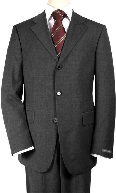 premeier quality italian fabric Charcoal Gray Super 150's Wool Men's Suits