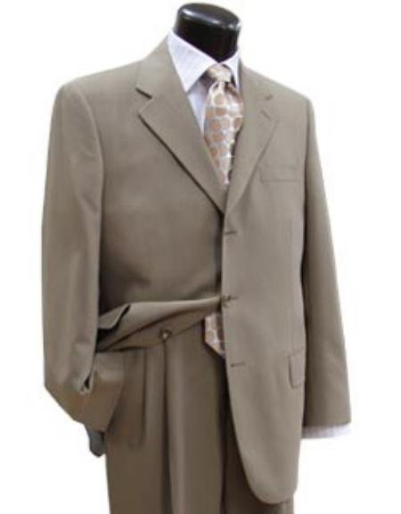 Taup/Tan Super 100's Wool Business Discounted Suit