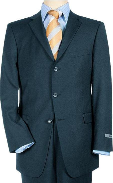 High Quality Pick Stitch Jacket & Double Back Vent Three Button Navy Blue Super 140's