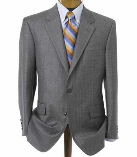 Men's Medium Gray 2 Button Double Vented Jacket + Flat Front Pants