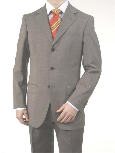Mid Gray 3 Button Real premeier quality italian fabric Super 150's Wool Italian Men's Suits