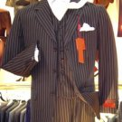 Bold Chalk Pinstripe 3 Button Vested Suit