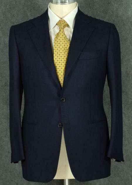 Men's 2 Button Style Jacket Super 100' Wool Suit With Pleated Pants in 6 Colors