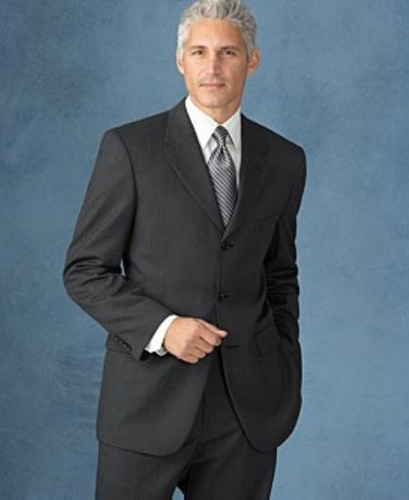 3 Buttons Dark Charcolal Gray 2 Side Vented SUPER 150 WOOL SUIT