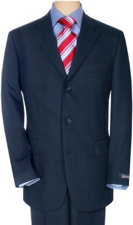 Navy Super 120 Wool 3 Button premeier quality italian fabric Suit