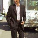 Dark Brown Vented Super 150 Wool premeier quality italian fabric Men's Taper Slim Cut Suits