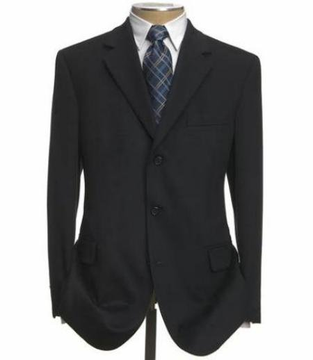 Black Super 100 Wool 3 Buttons Mens Dress Business Suits!