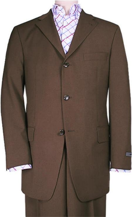 Chocolate Brown Solid Brown premeier quality italian fabric Super 150's Wool Suits