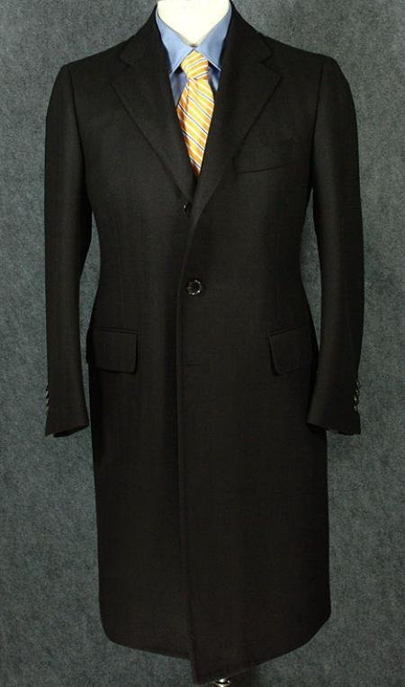 Luxurious Full-Length Black Cashmere and Wool Blend Over Coat