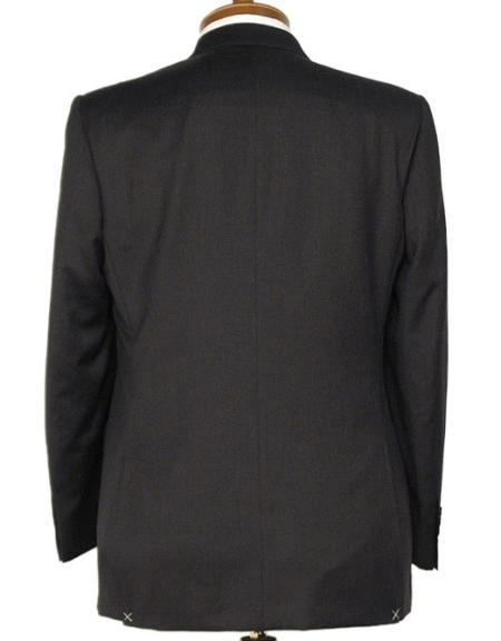 3 Button BLack Double Vented Super 120's Worsted Wool Suit
