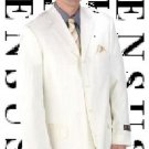 Men's Ivory Off White 4 Buttons Mens Dress Fashion Suits