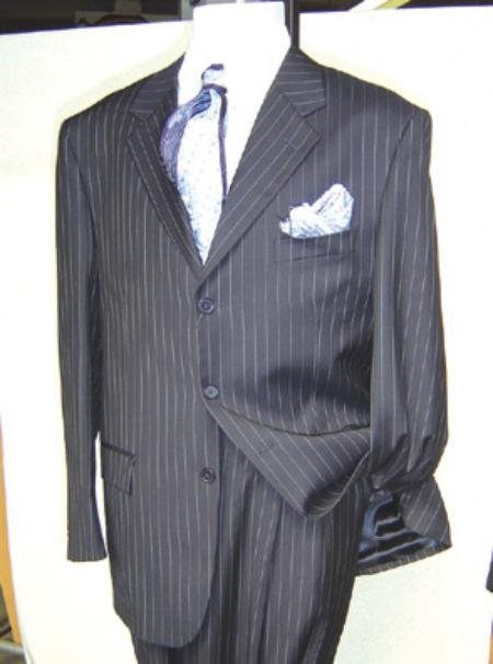 Mens Dress Pinstripe 3 Buttons Mens Business Soft & light Weight Fabric Suit