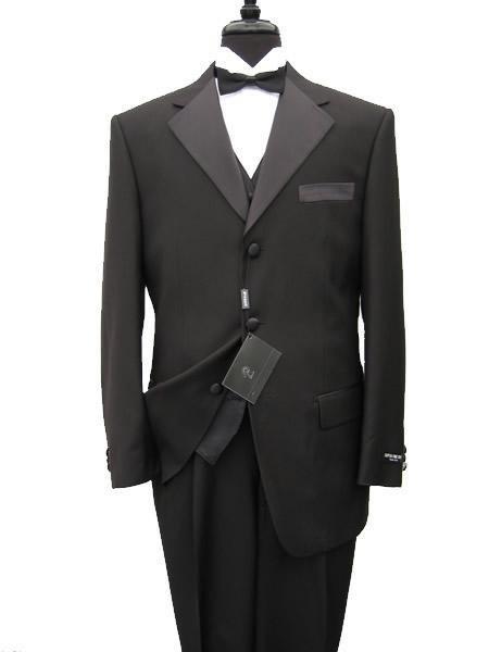 premeier quality italian fabric Vested Mens Tuxedo Super 150's Wool Jacket + Pants + Shirt + Bow Tie
