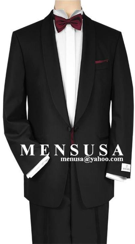 Shawl Collar One Button Super 150's Wool Suit