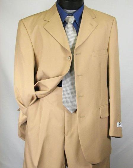 Mens Khaki~Tan Dress lightweight and comfortable Suit