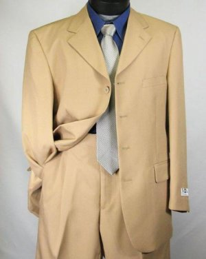 Mens Khaki~Tan Dress lightweight and comfortable Suit