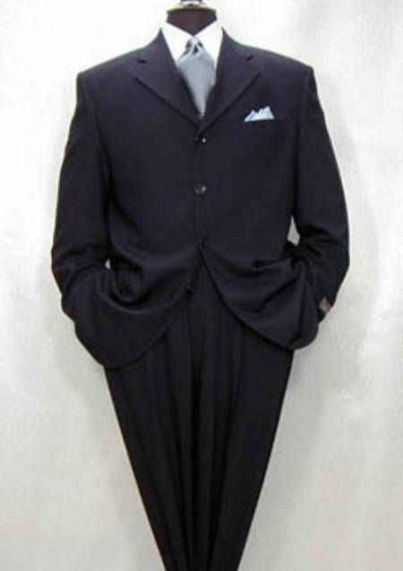 Darkest Navy Blue Wool 3 Buttons Style premeier quality italian fabric Men's Suits LIQUID NAVY BLUE