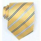 Silk Yellow/Navy/Lt.blue Woven Necktie