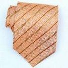 Silk Orange/Gold Woven Necktie