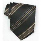 Silk Black/Gold/White Woven Necktie