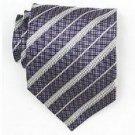 Silk Purple/White Woven Necktie