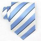 Silk Blue/White Woven Necktie