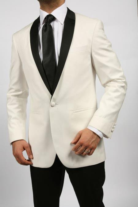 White & Black Shawl Tuxedo