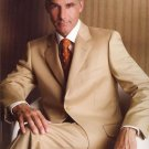 2 Button Side Vents With Flat Front Pants Suit Super 150 Wool Feel Poly-Rayon Developed By Nasa)