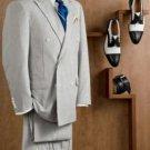 Mens Double Breasted Blue Seersucker Suit (Jacket + Pants)