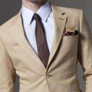 Mens Taupe Linen Suit 100% Linen 2-Button