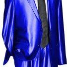 Utex Shiny 2 Button Royal Tnt Sharkskin Mens Suit
