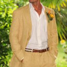 Men'S 100% Linen Suit In Sand