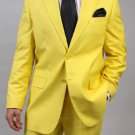 Men'S Two Button Yellow Suit