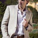 Men'S 100% Fine Linen Suit In Beige(Natural)