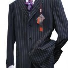 Light Weight Beautiful Velvet Black & Bold With Pinstripe Single Breasted Suit
