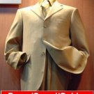 Camel/Gold Tan 3 Buttons Mens Synthetic Light & Soft Fabric Poly~Rayon Suits