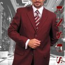 Dark Burgundy~Wine 2Or3 Buttons Mens Dress Suits