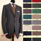 Super Extra 100% Wool Pleated 3Button Suits No Back Vent (Non Closed Back Vents) In 9 Colors