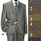 3 Buttons Mini Checkers Weave Salt & Pepper Birdseye Pattern Suit