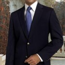 Classic Navy Blue Sport Coat 2 Button Hand Made One Of A Kind With Gold Button