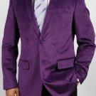 Purple Luxurious Cotton/Rayon Blazer Highlights
