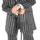 Men'S Black & Bold Very White Pinstripe Gangester Zoot Suits