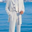 Men'S White Modern Dress Fashion Suit
