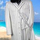 Gorgeous White & Black Pinstripe Pattern Fashion Fashion Zoot With Vest