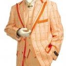 Men'S Exclusive Peach Pinstripe Fashion Zoot Suit