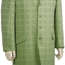 Mens Luxurious 3 Piece Long Zoot Suit Olive