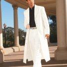 Men'S Very Long Fashion White Zoot Suit