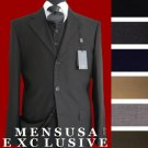 3 Button Vested 3 Piece Super 150'S Fine Wool Feel Poly~Rayon Suit  Available In Many Colors